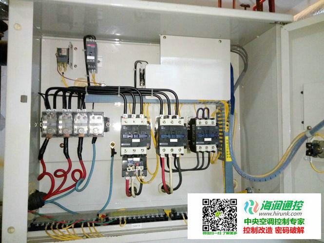 大金单螺杆水冷式冷水机组改制热功能控制器安装实例